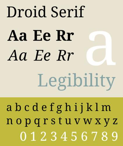 droid sans serif
