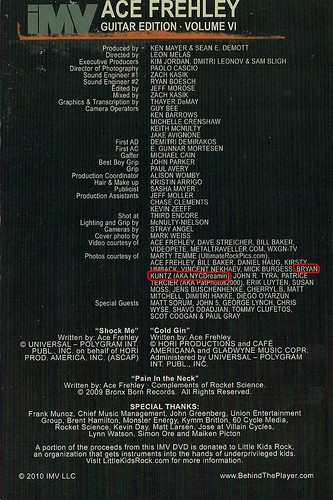 2010 - Ace Frehley: Behind The Player DVD (Credits)