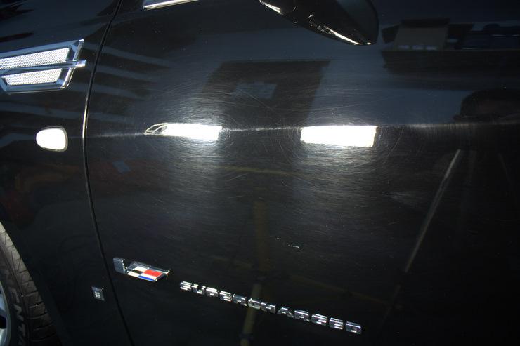 2008 Cadillac STS-V buffer holograms
