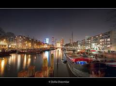 Haringvliet - Rotterdam (DolliaSH) Tags: city longexposure travel light vacation people urban holiday haven holland color tourism water colors skyline architecture night canon reflections river boats photography lights noche photo rotterdam topf50 bravo europe cityscape foto tour place nightshot photos nacht harbour thenetherlands visit location tourist explore le journey destination traveling maas visiting topf150 topf100 frontpage nuit haringvliet notte hdr touring stad 1022 noch zuidholland canonefs1022mmf3545usm southholland photomatix 50d tonemapping nachtopname canoneos50d detailsenhancer dollia dollias sheombar dolliash