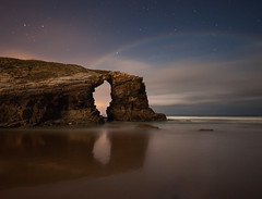 As Catedrais (Lugo) I (martin zalba) Tags: sea night stars landscape star noche mar playa paisaje galicia estrellas nocturna lugo estrella catedrais as