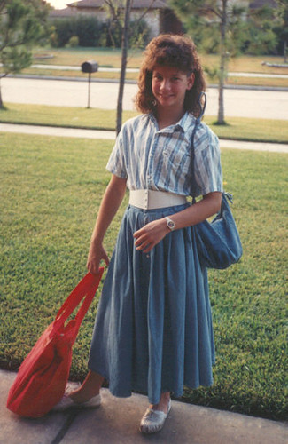 First day in Jr High. THE HAIR OF THE ALMIGHTY