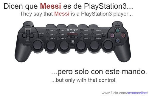 Messi es un jugador de Play Station