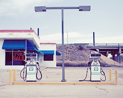 (summerspot) Tags: abandoned colorado pueblo gasstation gaspumps emulation nadavkander theylookalittlelikealiens orrobots
