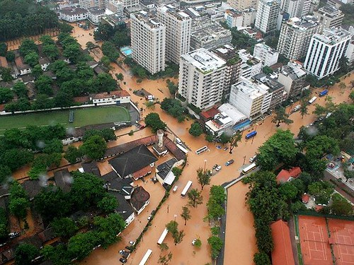 foto da enchente no rio de janeiro