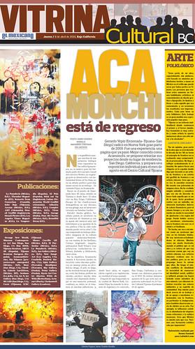 """Acamonchi Esta de Regreso """"Periodico El Mexicano, Jueves 8 de Abril 2010"""""""