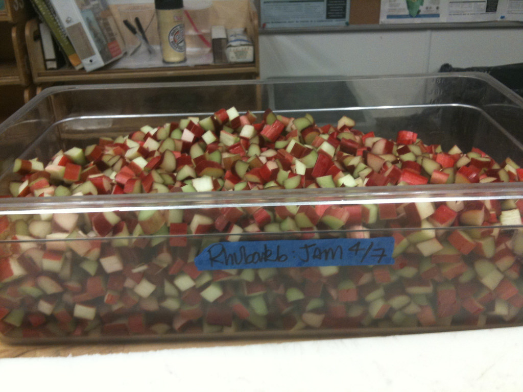 Rhubarb: Jam