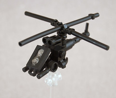 Microscale Helicopter (Titolian) Tags: scale lego micro copter heli gunbelt brickarms brickforge