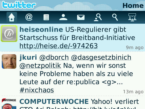 Blackberry Twitter Client