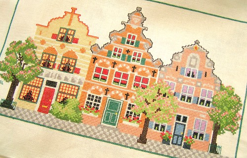 stitched houses