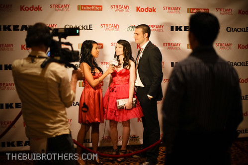 Casey & Rudy interviewed at the Streamys