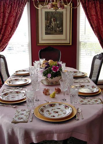 dinner table anderson grammas easter2010