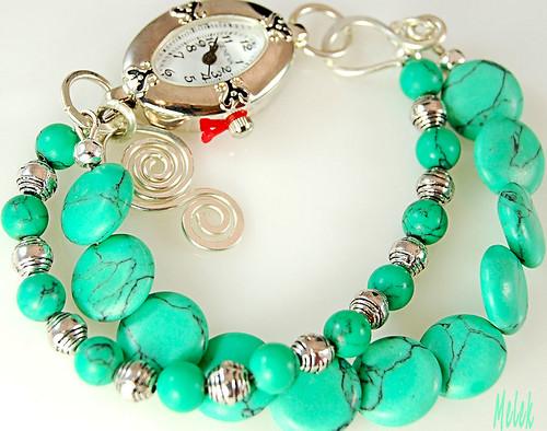 Green Howlite Watch Bracelet