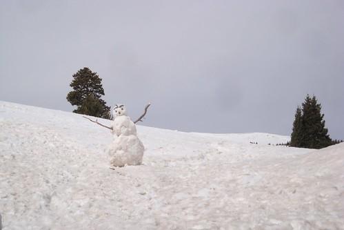 Snowman on Vail Pass