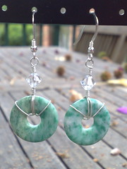 Ching hai jade earrings