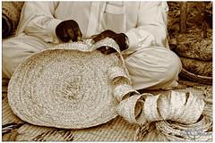 Manufacturer of mats - صانع الحصير (Fawaz Abdullah) Tags: صانع العيش السن كبر مشقة الحصير