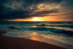 sky and sand (Dennis_F) Tags: sardegna italien blue sunset sea sky italy orange cloud sun beach water colors yellow strand landscape island spring sand meer italia waves sardinia sonnenuntergang sundown angle sony wide wolken sigma wideangle sands dslr sonne 1020 ultra sardinien farben 2010 frhling wellen uwa mittelmeer ultrawideangle sigmalens a700 sigma1020 badesi uww sardenga sonyalpha sonydslr badesimare inthepalmofyourhand skyandsand alpha700 sonya700 sonyalpha700 dslra700 sigma1020456 sigmaobjektiv andwebuildupcastles intheskyandinthesand designourownworld aslongasweareflyin ifoundmyselfalive aintnobodyunderstand thisworldaintgotnoend