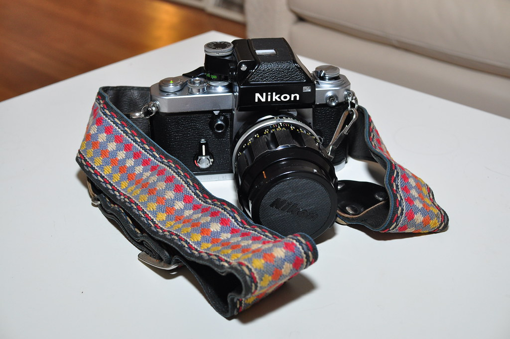 """Hippie Strap"" for my Nikon F2"
