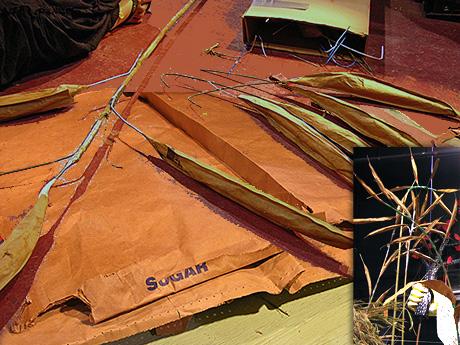 large whole grain form grain sacks