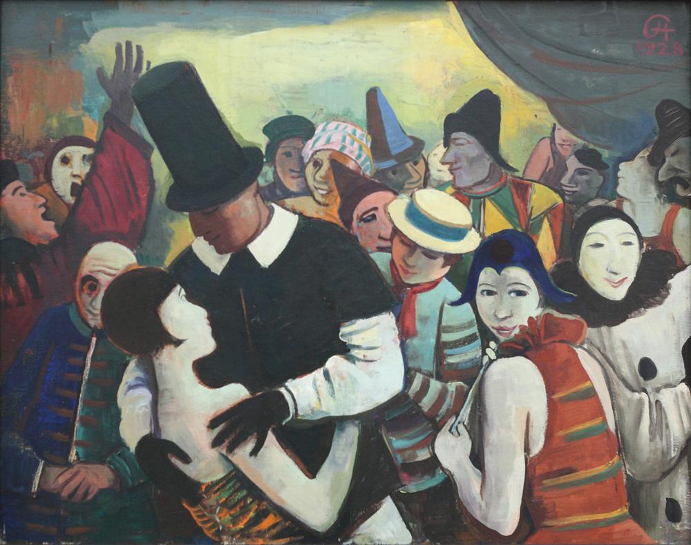Karl Hofer, Grosser Karneval [Large carnival], 1928