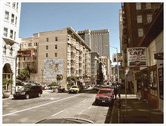 A View down Geary Street (AdamChandler86) Tags: sf photoshop canon for mac san francisco all with photos district sunday taken 18th april unionsquare financial processed camerabag sfmuni tenderloin g11 cs4 tendernob sfmta