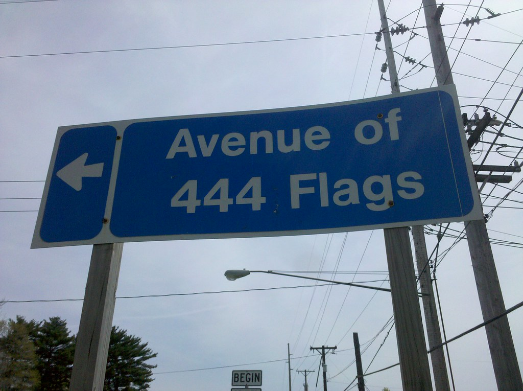 Avenue of 444 Flags