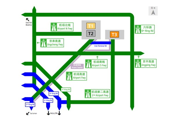 Beijing Airport Map