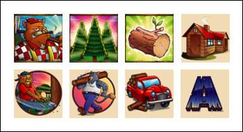 free Lumber Cats slot game symbols