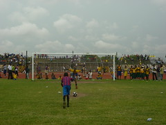 "The goal to victory at El-Wak Sports stadium, Accra • <a style=""font-size:0.8em;"" href=""http://www.flickr.com/photos/48668870@N02/4547510521/"" target=""_blank"">View on Flickr</a>"