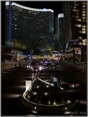 Entrance to Aria (mrkyle229) Tags: vegas night canon lasvegas powershot citycenter aria s90