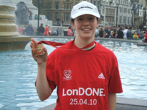 London t shirt and medal