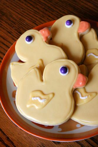 Ducky cookies.