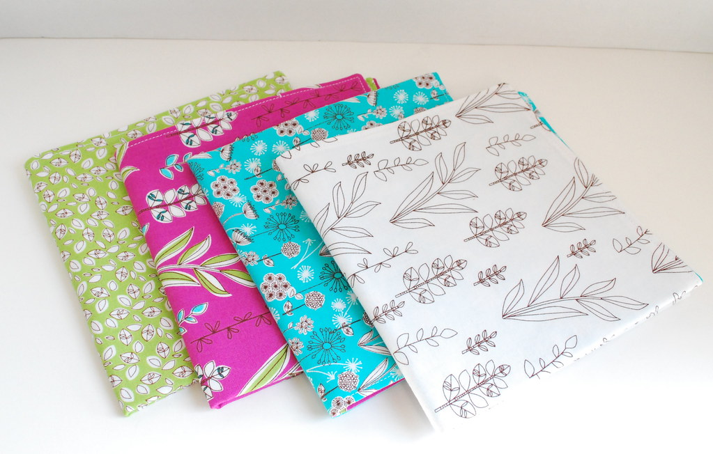 Double-sided cloth napkins- Dill Blossom