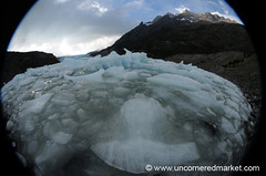 Fisheye Ice Floes - Torres del Paine National Park, Chile (uncorneredmarket) Tags: chile patagonia mountains trekking hiking fisheye icefloes glaciers torresdelpaine dpn grayglacier