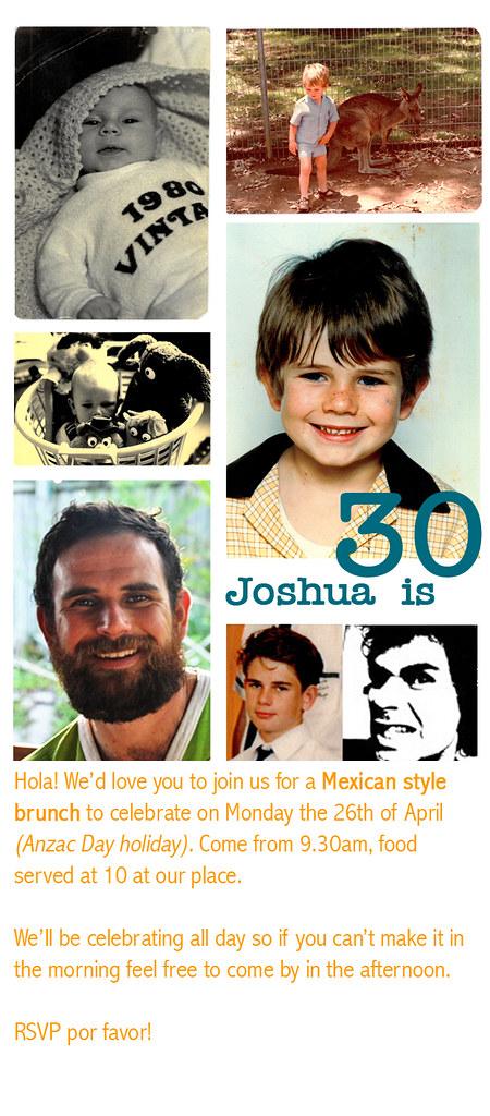 josh's 30th invite