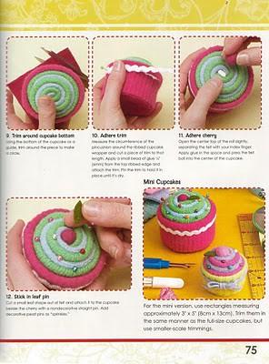 Alfineteiro Cupcake: Passo a passo 3