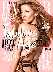 Gisele Bundchen Harper's Bazaar Magazine Cover