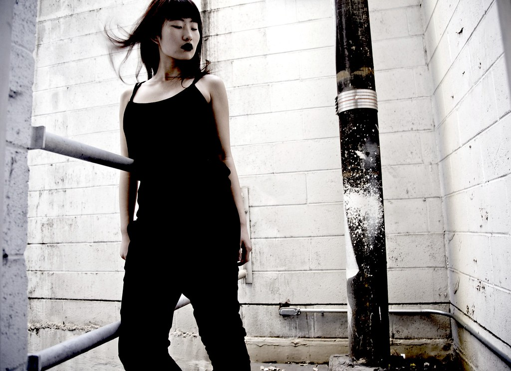 Natsuki Nakano OWL black top and black pants NYU ACE