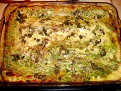 Caramelized Onion and Spring Spinach Lasagna