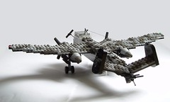 Heinkel He-219 Uhu (6) (Mad physicist) Tags: germany lego aircraft wwii heinkel ww2 nightfighter