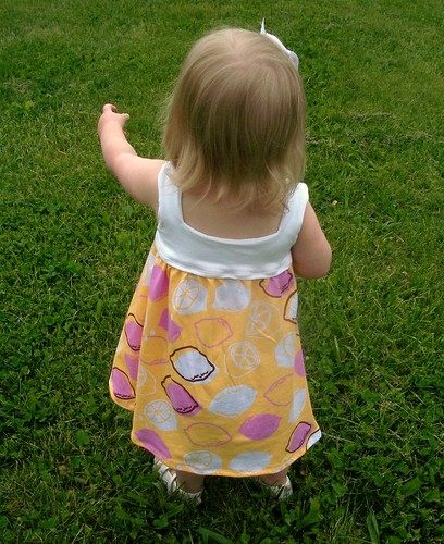 knit toddler sundress