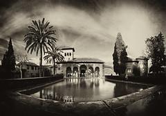 Alhambra Granada (pandahaccer) Tags: travel panorama distortion classic pool landscape spain nikon tour tourist tokina alhambra granada tone d300 1116mm