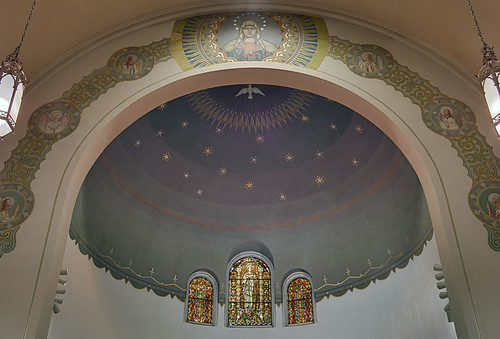 Immaculate Conception Roman Catholic Church, in Maplewood, Missouri, USA - apse