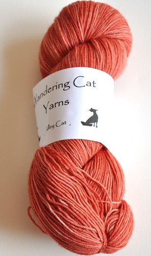 Wandering Cat Yarns- Alley Cat-75sw merino 25 nylon-4-ply-400yds-Copper Penny