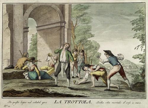 009-El juego del trompo- Giuochi Trattenimenti e Feste Annue Che si Costumano in Toscana 1790- Giuseppe Piattoli
