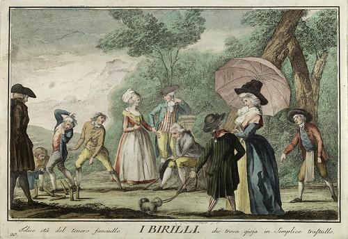 017-Los bolos- Giuochi Trattenimenti e Feste Annue Che si Costumano in Toscana 1790- Giuseppe Piattoli