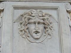 Medusa head on a marble fountain (Blind Spot Jewellery) Tags: italy stone italia head liguria genova marble medusa foutain