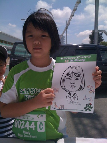 caricature live sketching for Cold Storage Kids Run 2010 - 27