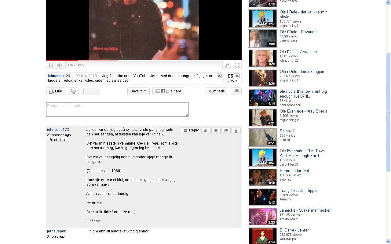 kommentar på youtube