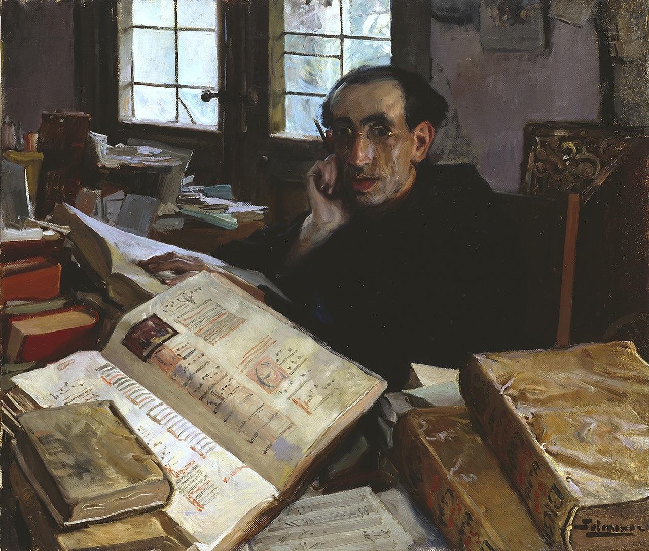 Fernando Álvarez de Sotomayor y Zaragoza (Spanish, 1875-1960) Retrato del padre Villalba (Portrait of Father Villalba) 86 X 100 cm. Museo Nacional del Prado, Madrid.